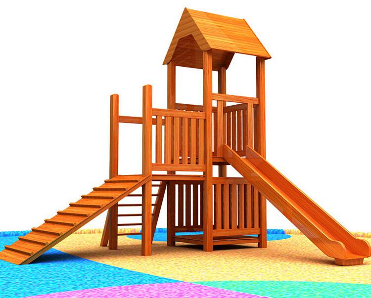木制滑滑梯 (1)
